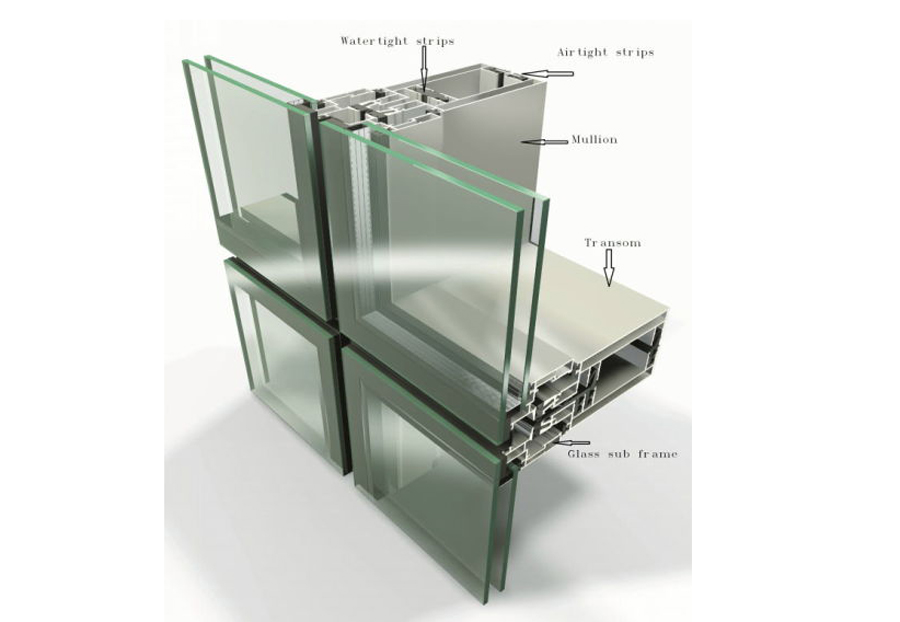 سیستم کرتین وال یونیتایز Curtain Wall Unitize-Stick System
