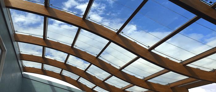 انواع سقف شیشه ای skylight