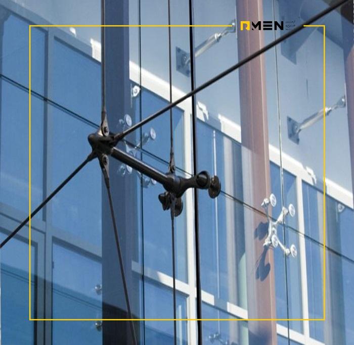 اجرای نمای اسپایدر - نمای کرتین وال -سیستم نمای کرتین وال - آرمن مجری نمای ساختمان