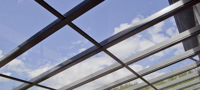 قیمت کرتین وال شیشه ای مدرن - طراحی و اجرای سقف شیشه ای کرتین وال- قیمت کرتین وال - نمای کرتین وال