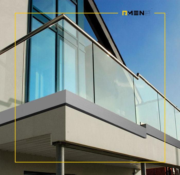 نرده شیشه ای بالکن - سیستم نمای ساختمان