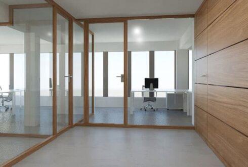 پارتیشن شیشه و چوب ، فضایی زیبا و متفاوت