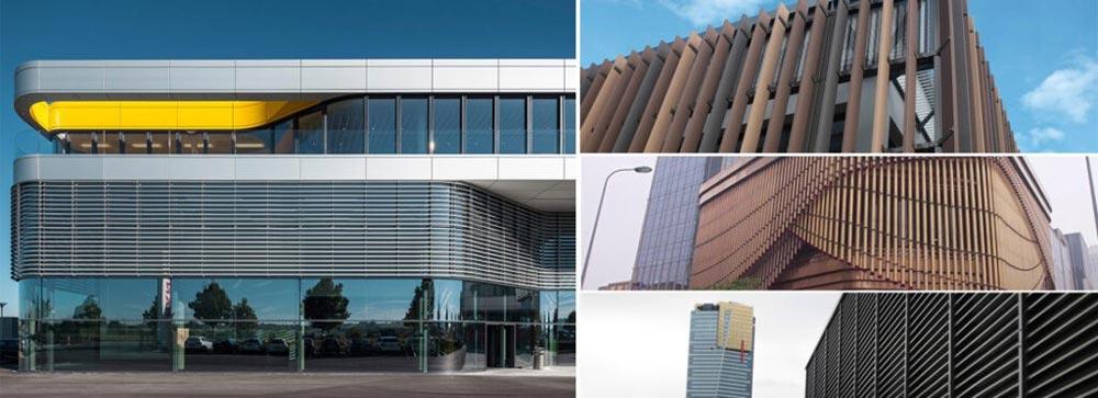 انواع پنجره با طرح لوور آلومینیومی