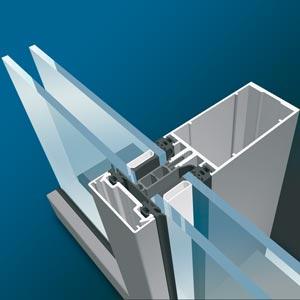 سیستم شیشه ای کرتین وال درپوش دار