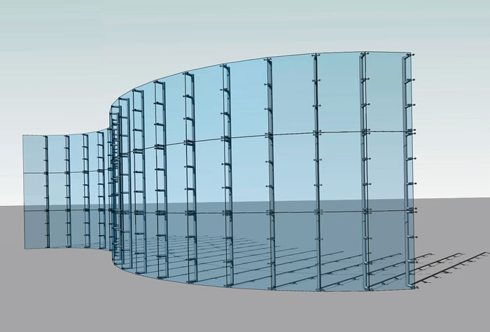 نمای کرتین وال - نمای کرتین وال شیشه ای -
