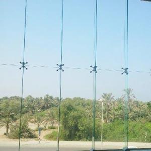 نمای شیشه ای بدون فریم
