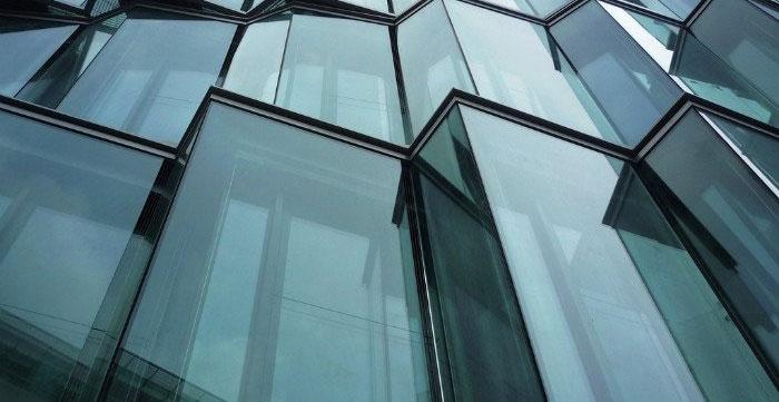 نمای شیشه ای کرتین وال تقویت شده با فولاد - نمای کرتین وال - نمای کرتین وال شیشه ای