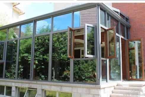 نمای پنجره آلومینیومی غیرترمال بریک - Non-thermal break aluminum window facade