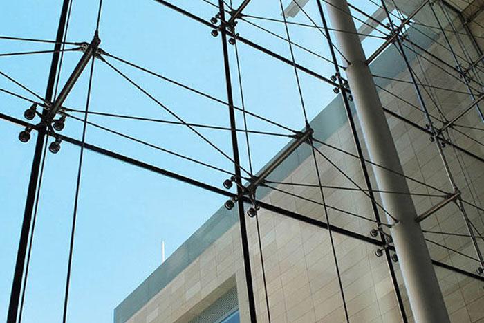 نمای شیشه ای - سیستم نمای اسپایدر - انواع نمای شیشه ای