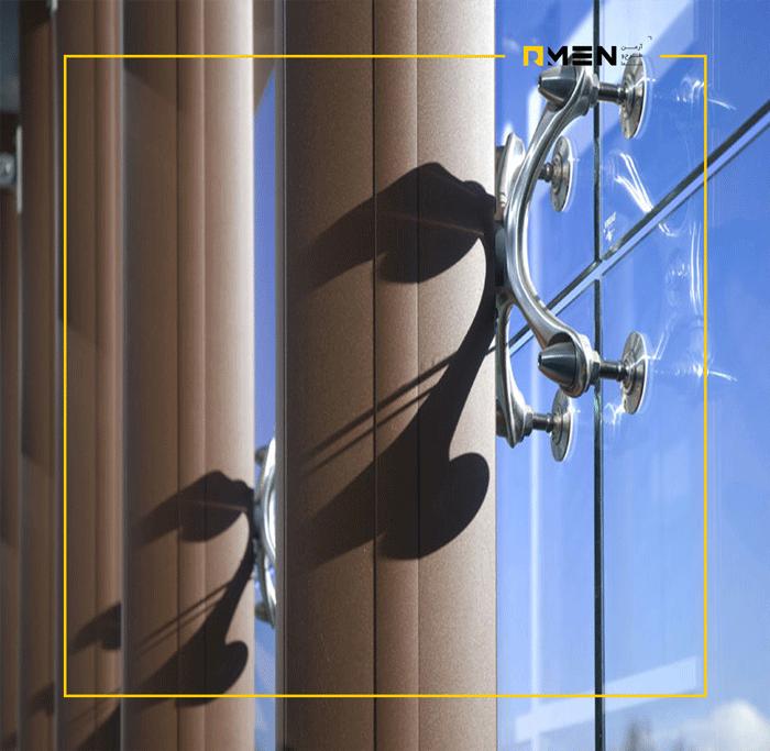 اتصالات اسپایدر - کاربرد نمای اسپایدر - سیستم نمای اسپایدر - سازه اسپایدر