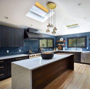 سقف شیشه ای آشپزخانه - نمای اسکای لایت