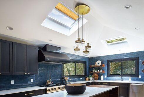 سقف شیشه ای آشپزخانه