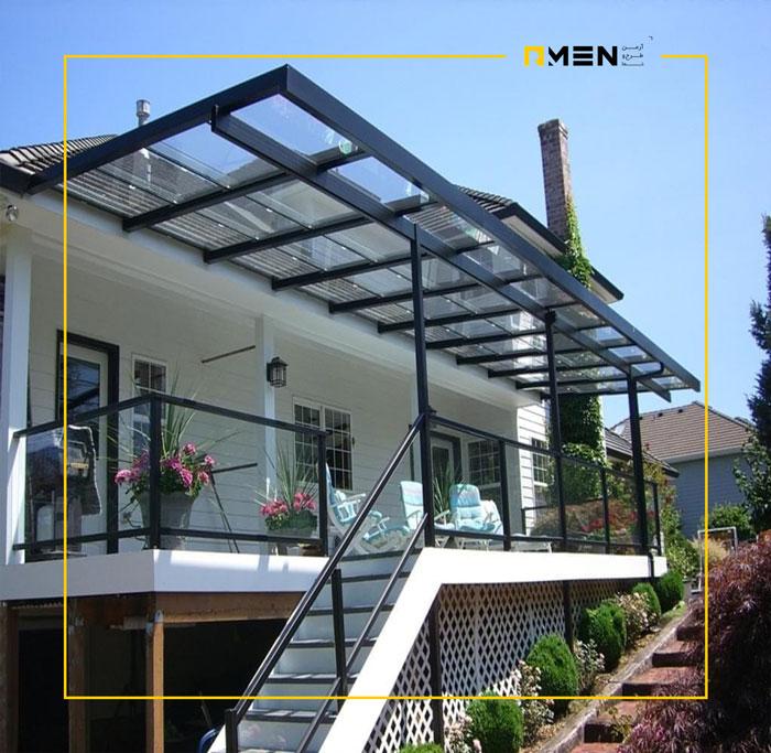 سقف اسکای لایت متحرک - سازه سقف شیشه ای