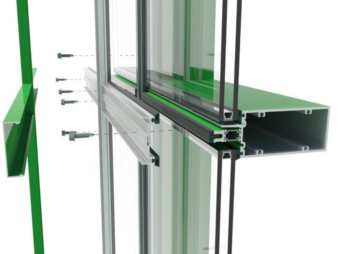 کرتین وال - کرتین وال شیشه ای - نمای مدرن کرتین وال